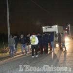 Protesta a None: torna il blocco dei tir alla Safim