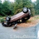 Candiolo: auto fuori strada sulla Provinciale 142, una giovane in ospedale