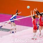 Volley serie A2 donne, Pinerolo cade solo al tie break contro la capolista trentina