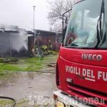 Campiglione Fenile: in fiamme alcuni box di un maneggio, l'intervento dei Vigili del fuoco