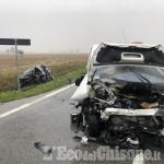Villafranca: schianto frontale sulla Provinciale 151, tre i feriti