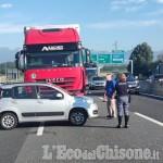 Nichelino: scontro tra auto e tir in tangenziale, un ferito