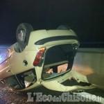 None: auto ribaltate dopo lo scontro sulla Torino-Pinerolo