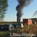 Airasca: incendio alla Ecolegno di Via Volvera