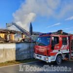 Bibiana: fiamme in una cascina di via san Vincenzo