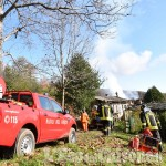 Angrogna: fiamme in una casa rurale di borgata Pons