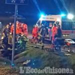 Volvera: un altro incidente sulla Sp141, auto ribaltata e conducente in ospedale