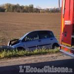 Casalgrasso: schianto frontale tra auto e furgone, due feriti