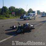 Beinasco: scontro tra moto e auto a Fornaci, biker in ospedale
