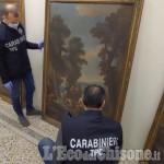Moretta: recuperate le preziose tele rubate 23 anni fa da un castello privato