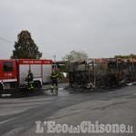 Piobesi: in fiamme bus della Sadem