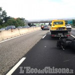 Nichelino: auto contro moto sulla tangenziale, due feriti