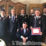 Paesana: i carabinieri festeggiano i 100 anni dell'appuntato in congedo Valter Giaccone