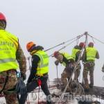 Rocca Sbarua: conclusa nel pomeriggio l'esercitazione di soccorso alpino militare