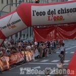Acuto del biellese Barbero Piantino nel circuito ciclistico di Pinerolo, show a San Maurizio
