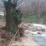 Frana a Prarostino, in località Peraculera: quattro borgate isolate