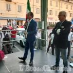 Elezioni Pinerolo: il presidente Cirio al comizio del centro destra per Pino Berti