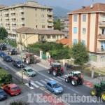 Tra Buriasco e Pinerolo la protesta degli agricoltori contro l' impianto Kastamonu