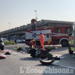 None: schianto frontale davanti alla Ilmed, motociclista trasportato al Cto in elisoccorso