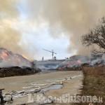 Frossasco, incendio all'ex Annovati: questa mattina i sindaci di Piscina e della Val Noce incontrano l'Arpa