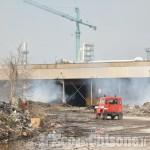 Frossasco: un anno fa bruciava la catasta di scarti legnosi al Bivio