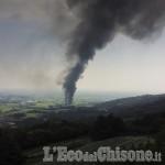 Roletto, Vigili del Fuoco: «L'incendio è sotto controllo»