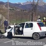 Pinerolo: grave incidente sulla provinciale per San Pietro