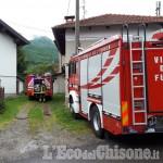 Luserna S.G.: fiamme in Viale de Amicis
