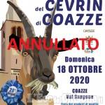 """Coazze: annullata la """"Festa rurale del Cevrin"""""""