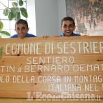 Sestriere: sentiero intitolato ai gemelli Dematteis, campioni di corsa in montagna