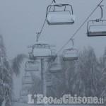 A Sestriere, tanta neve aspettando le gare di Coppa