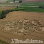 Cerchio nel grano tra Virle e Castagnole avvistato durante un volo