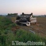 Stupinigi: auto ribaltata in tangenziale, grave 22enne