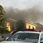 Piobesi: fiamme al sottotetto di un'abitazione di via Torino