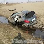 Castagnole: auto fuori strada, ferito lievemente giovane di Virle