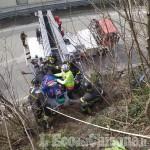 Perosa Argentina: uomo soccorso sul dirupo del Gir del Roc, traffico rallentato