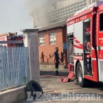 Osasio: incendio in un'azienda nell'area industriale, l'intervento dei Vigili del fuoco