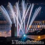 Capodanno in piazza a Pinerolo: fuochi artificiali senza i botti ma con la musica