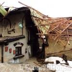 Vento forte a Pragelato: scoperchiata casa nel villaggio di Allevé