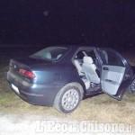 Inseguimento a Piscina: banda di ladri abbandona l'auto e scappa nei campi