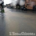 Allerta meteo: Scalenghe, allagate alcune case in centro