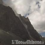 La frana sul versante nord-est del Monviso non ha coinvolto persone o interessato sentieri