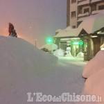 Forti nevicate e rischio valanghe: scuole chiuse a Sestriere, Pragelato, Prali e Perrero. Sr 23 chiusa sopra al bivio Plan