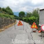Pinerolo: Strada al Colletto chiusa nel tratto collinare che porta alla chiesa