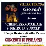 Villar Perosa: concerto di fine anno nella chiesa di S. Pietro in Vincoli