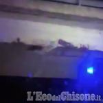 Città metropolitana: «Distacco dal viadotto causato dall'impatto con un mezzo»