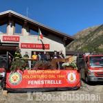 Vigili del fuoco di Fenestrelle: inaugurazione per la caserma e il nuovo mezzo