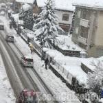 Nevicate copiose anche in Val Chisone, spartineve all'opera con qualche criticità