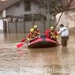 Volvera, 96enne salvata nella notte dall'acqua in via san Martino