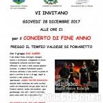 Solidarietà a Pomaretto: concerto di fine anno di Gai Saber